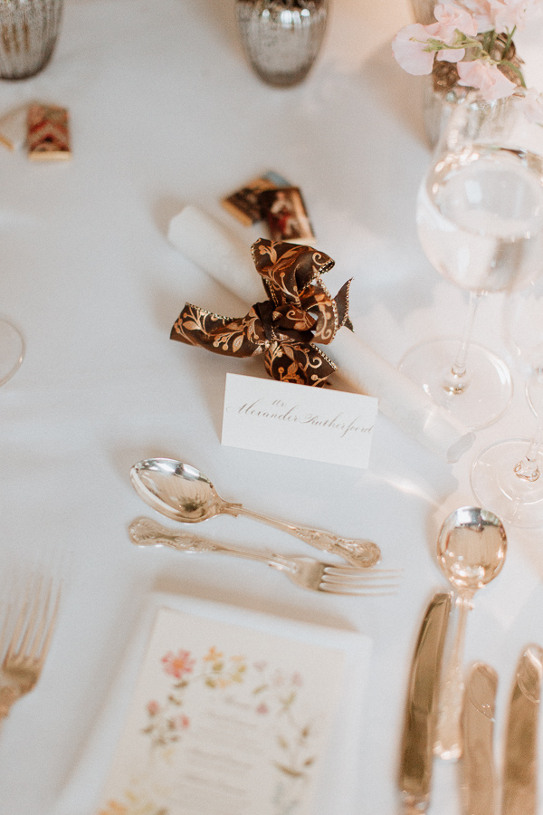 table decorations Dumfries House Wedding Photos