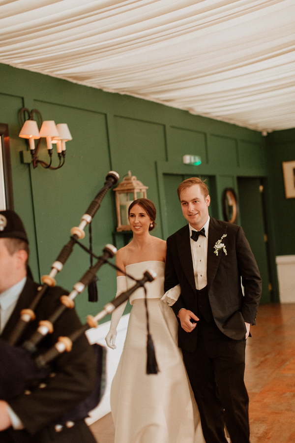 Dumfries House Wedding Photos newlyweds pipped in for speeches