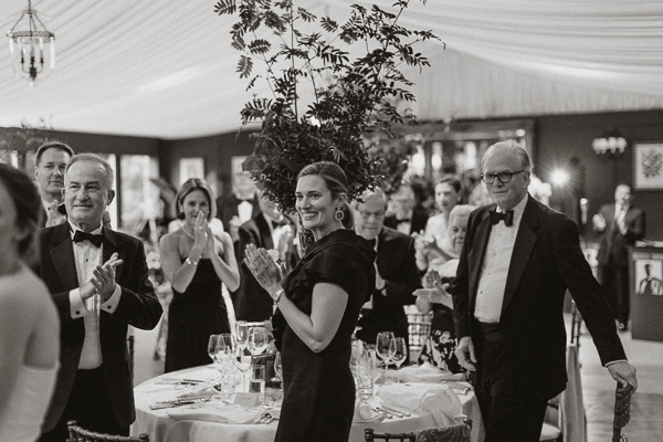 Dumfries House Wedding Photos guests calpping