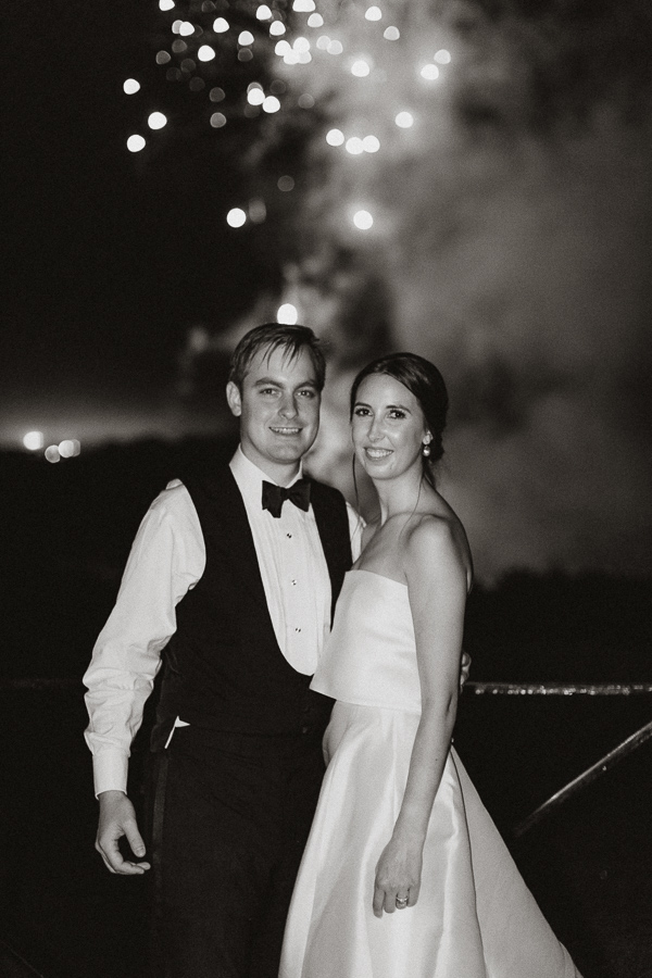 Dumfries House Wedding Photos bride and groom with fireworks