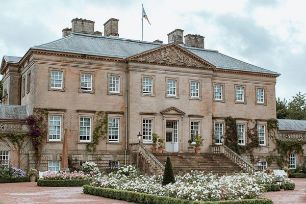 Dumfries House Wedding Photograher view from outside
