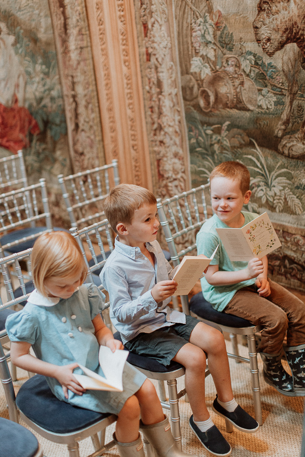 kids during rehersal at dumfries house