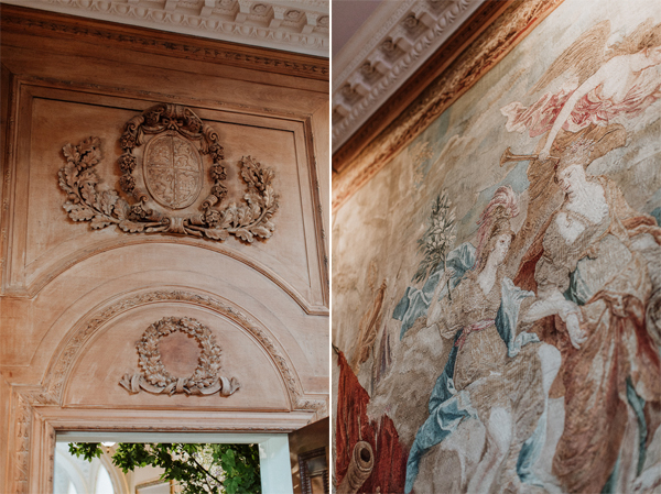 tapestry room details Dumfries House Wedding