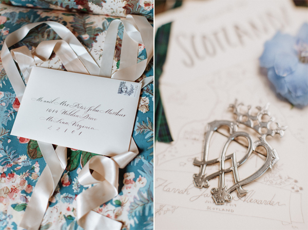 wedding invitations and details at Dumfries House Wedding