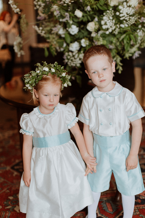 Dumfries House Wedding Photos flower girl and page boy