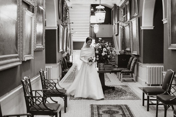 bride walking before ceremony