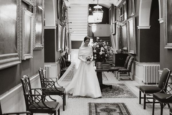 bride walking before ceremony
