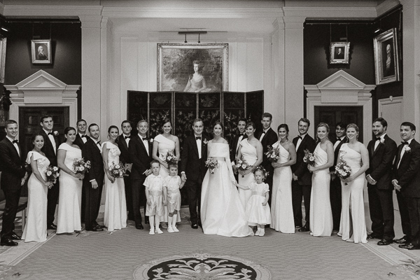 bridal party at dumfries house format photo