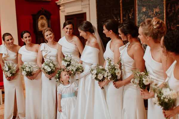 bridesmates and bride dumfries house