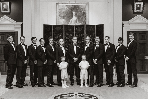 groomsmen, pageboys and groom formal photo