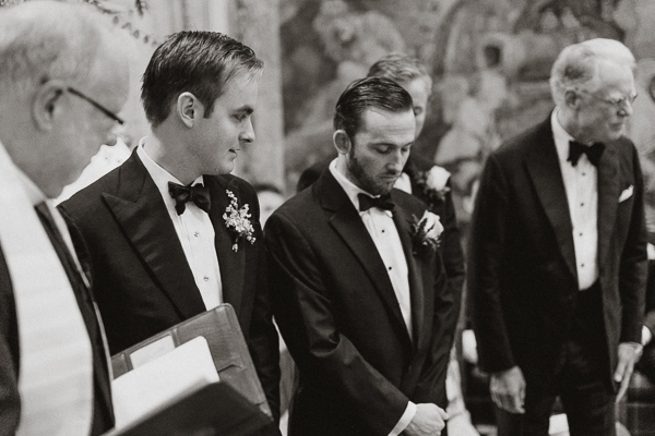 ceremony groom looking at this best man