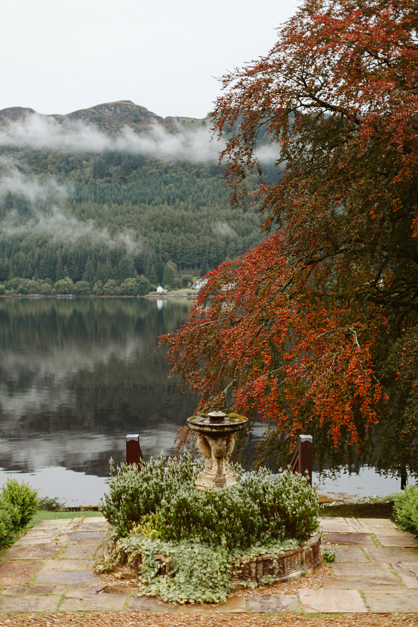 view from the lodge on loch goil at the beech tree