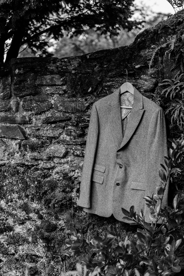 wedding suit at the summer house on loch goil scotland