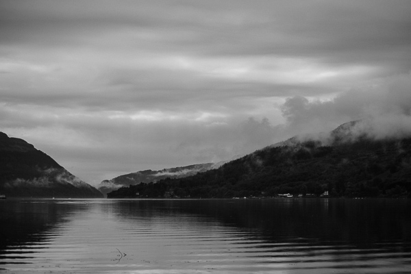 loch goil in the morning before the wedding