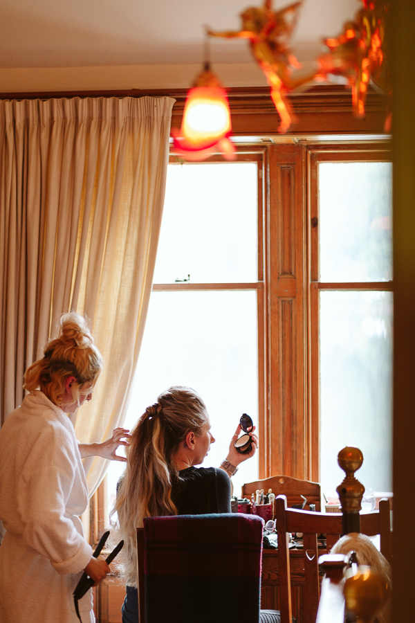 hair stylising at the lodge on loch goil