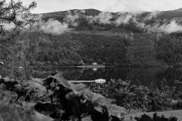 loch goil view on the wedding day
